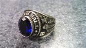 Blue Stone Gent's Stone Ring Silver Titanium 7g